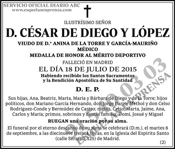 César de Diego y López